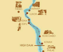 3 nights Nile cruise