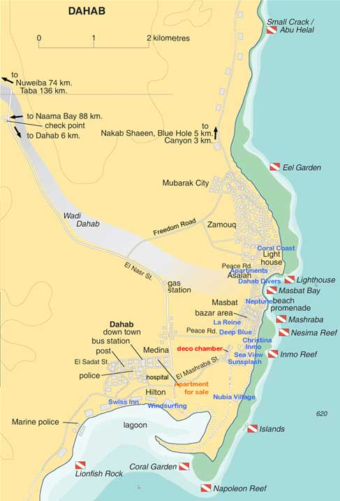 The City Of Dahab - Map of egypt holiday resorts