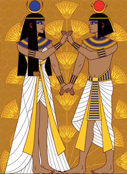Ancient egyptian clothing for rich men