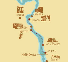 Egypt Nile Cruise Tours Nile Cruise Tips Nile Cruise Holidays - Egypt interactive map