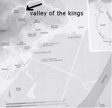 Egypt Travel Maps - Map of egypt valley of the kings